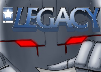 Cover Legacy robot superhero independent publishers comic book action